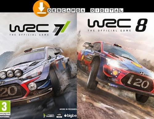 Wrc 7 + Wrc 8 (2 Juegos) - Pc Digital Español