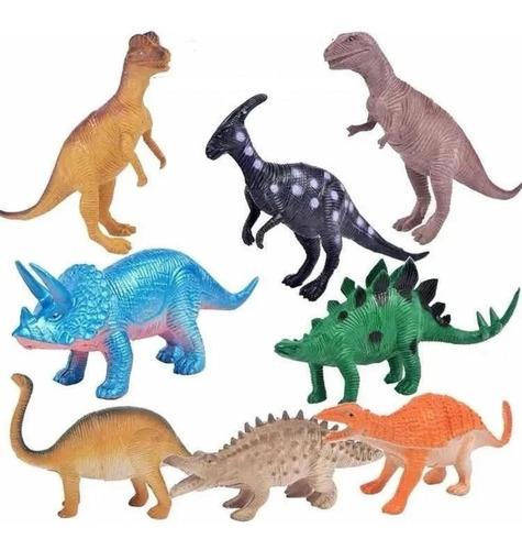 Dinosaurios De Goma Bolsa X 8