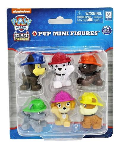 Paw Patrol 6 Figuras Muñecos Torta Chase Zuma Rocky Skye