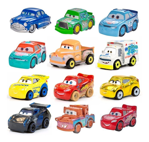 Mini Racers Corredores Autos Metal Cars 3 Disney Mattel C/u