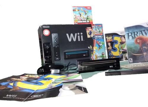 Nintendo Wii + Super Mario Bros + Toy Story 3 + Brave