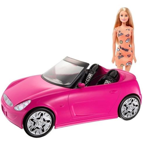 Auto De Barbie + Muñeca 30 Cm Original Mattel