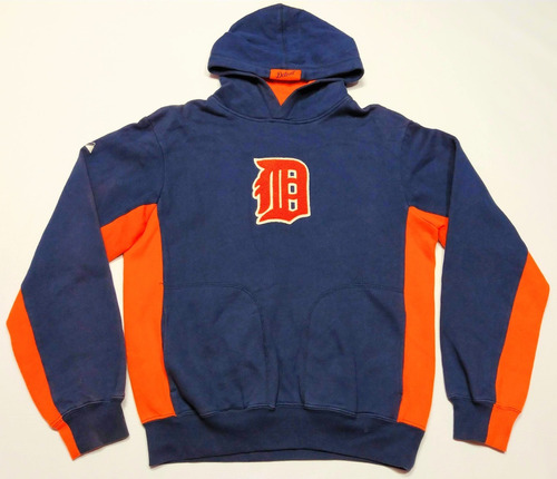 Buzo Hoodie Detroit Tigers Majestic Talle Xs Baseball Mlb