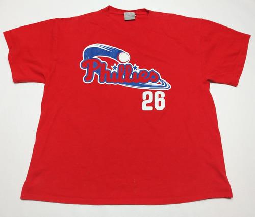 Remera Baseball Philadelfia Phillies 26 Talle Xl Color Rojo