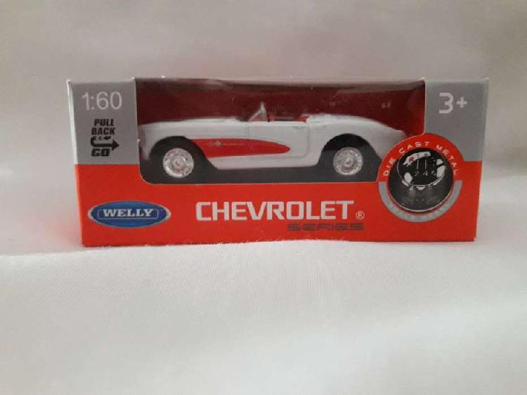 Chevrolet Corvette 1957 Welly Escala 1:60
