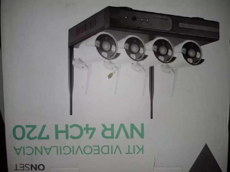 Vendo kit de 4 cámaras de vídeo vigilancia