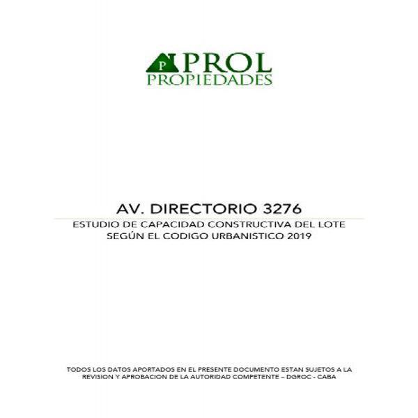 Av Directorio 3200 - Lote en Venta en Flores, Capital