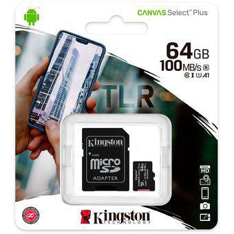 Memoria SD 64GB 100mb/s CL10 Sdhc Sdxc Uhs-i Pro / Kingston