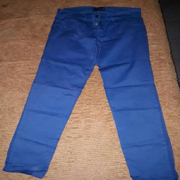 Pantalón Mujer Elastizado Azul, Talle 46