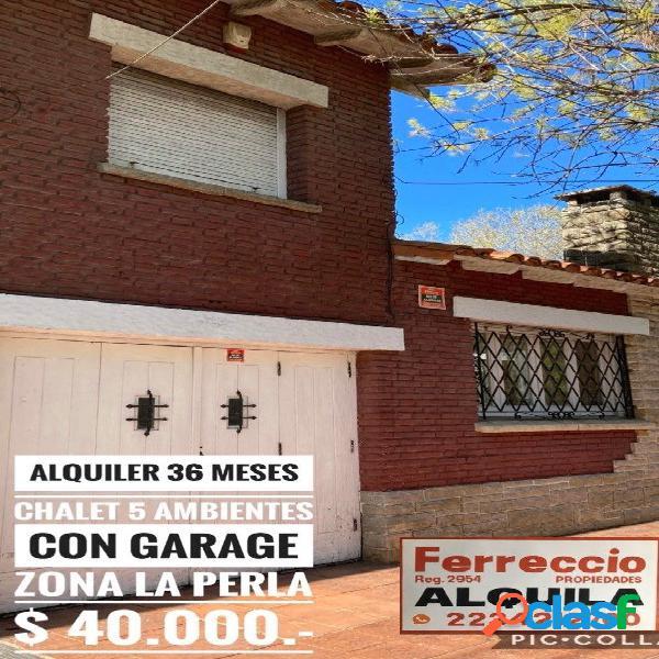 Chalet 5 Ambientes con Garage y Patio