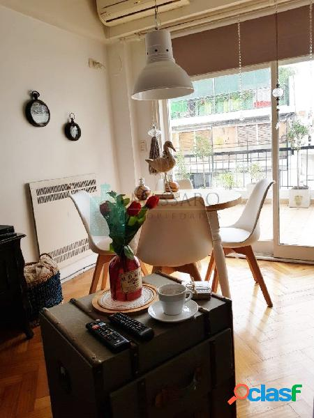 Departamento 2 ambientes con balcon terraza y cochera doble,