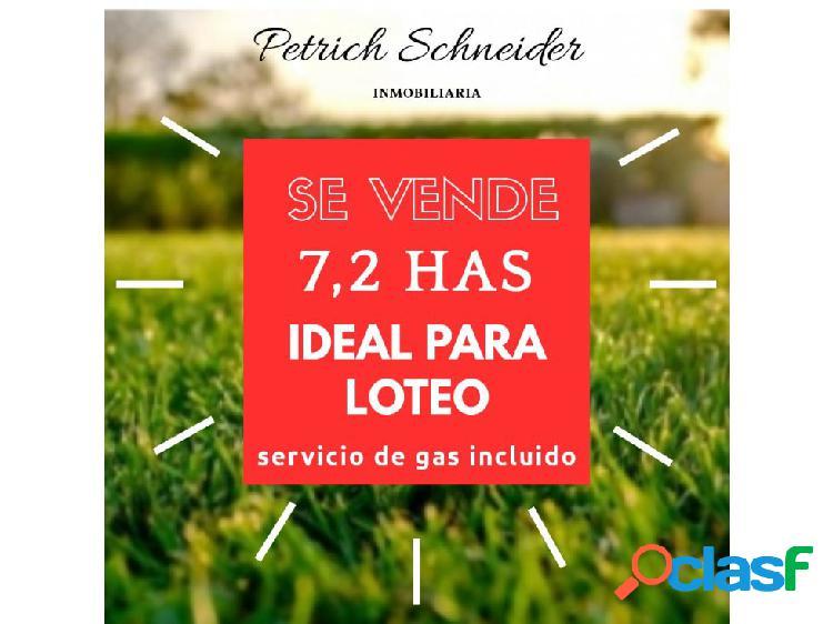 se venden 7,2 has ideal para loteo zona Parana