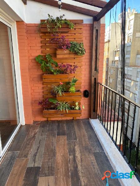 Departamento dos ambientes a la calle con terraza