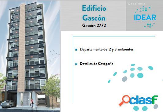Semipisos de 2 y 3 ambientes en Gascon y San luis