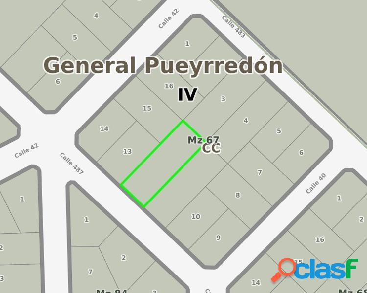LOTE 12 SUP TOTAL 487 M2 LOS ACANTILADOS VENTA